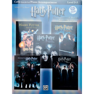 Selections from Harry Potter Instrumental solos (movies 1-5) Cello en Piano begeleiding met CD