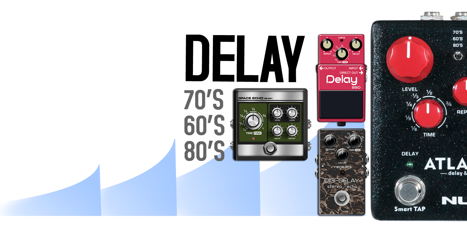 NUX Atlantic delay & reverb NDR-5 delay modi