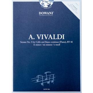 A. Vivaldi Sonata No.5 for Cello and Basso continuo (piano), RV 40 E minor