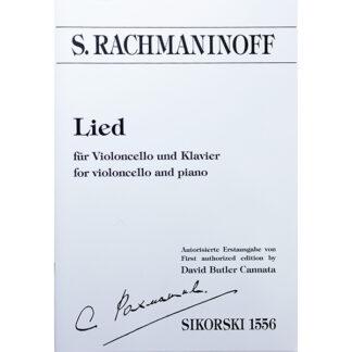S. Rachmaninoff Lied voor cello en piano