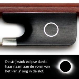 Cello strijkstok éclipse ebben zilver pernambuk cellowinkel
