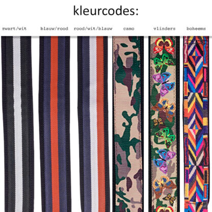 BAM Rugzakriemen kleurcodes dessins motieven
