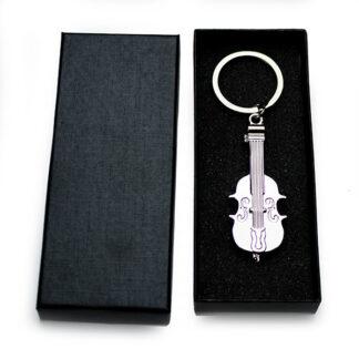 Cello Sleutelhanger chroom met keyring