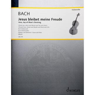 Bach Jesus bleibet meine Freude für 4 violoncelli cellokwartet