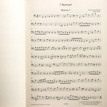 Gabrielli 7 Ricercari für Violoncello solo