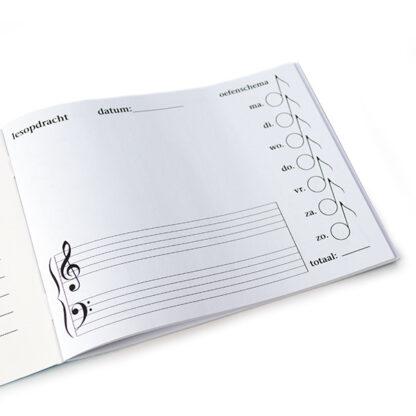 Mijn oefenschrift muziekpapier lesopdrachten muziektermen