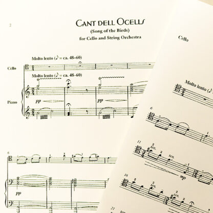 Cant dell ocells Song of the Birds cello piano Pablo Casals