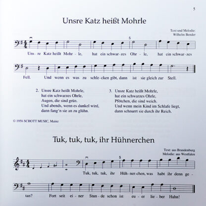 Kinderlieder für Violoncello (1. Lage) und Klavier 2 cellos en piano kinderliedjes