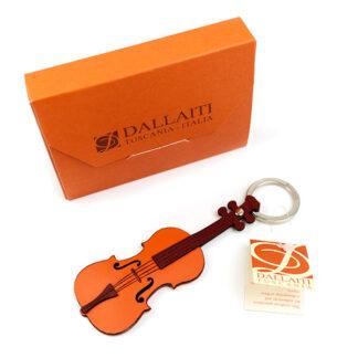 Cello sleutelhanger Italiaans leer Toscane Dallaiti