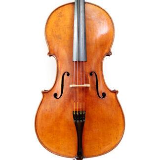 19e eeuwse Duitse oude cello in de cellowinkel