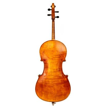 19e eeuwse Duitse oude cello achterkant