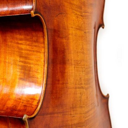 19e eeuwse Duitse oude cello welving achterblad