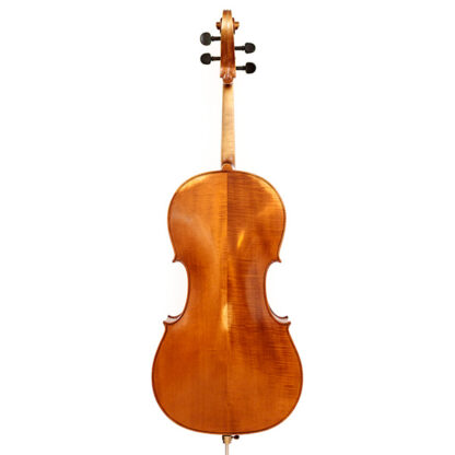 Achteraanzicht Anticky cello Praag Tsjechie Antique finish