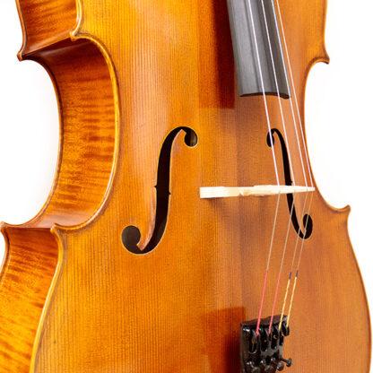 Cello Heinrich Gill W3 Gofriller model zijaanzicht