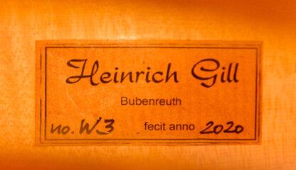 Cello Heinrich Gill W3 Gofriller model label 2020