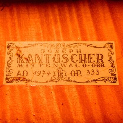 Etiket Kantuscher Mittenwald 1974