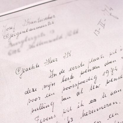 Opdracht brief bouw Kantuscher Mittenwald 1974 cello