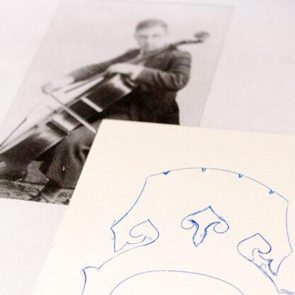 Ontwerp kam Kantuscher Mittenwald 1974 cello