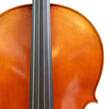 Voorblad detail Cello La Lutheri d'Art Stradivarius Antique model